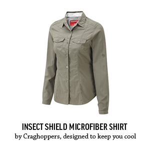 Sun-protective Insect Shield Microfiber Longsleeve shirts by Craghoppers